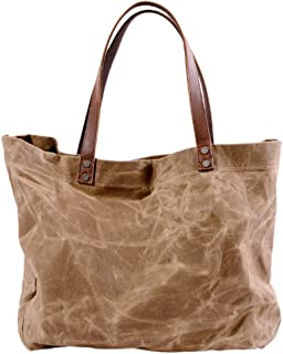 Lovoski Women Shoulder Bags Casual Hobo Canvas Handbags Top Handle Shopping Tote Bag
