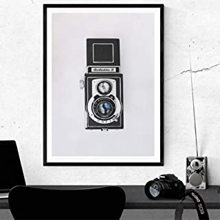 ACYKM Canvas Decorative Painting Vintage Camera Poster Prints Photography Lover Gift Black and White Camera Wall Art Canvas Painting Home Wall Decor-60x90cm
