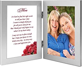 Mom Gift from Daughter or Son for Birthday or Christmas - Poem in Frame, Add Photo