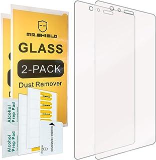 [عبوتين] -واقي شاشة Mr.Shield لهاتف Huawei P9 Plus [زجاج مقسى] [0.3 مم فائق النحافة صلابة 9H 2.5D مستديرة الأطراف] مع استب...