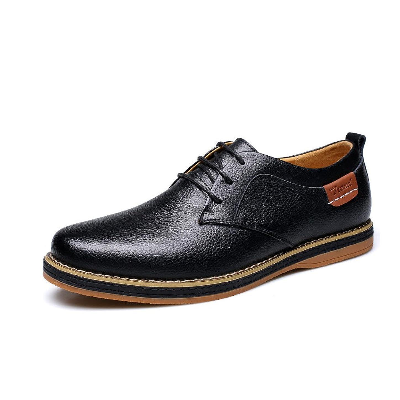 キリン聖域値する[CHENGFA] カジュアルシューズ メンズ ビジネスシューズ 本革 紳士靴 革靴 レースアップ ウォーキング 通気性