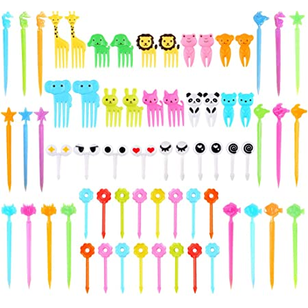 10X Cute Animal Fruit Forks Dessert Fork Toothpick Kids Tableware Food Picks/&LZT