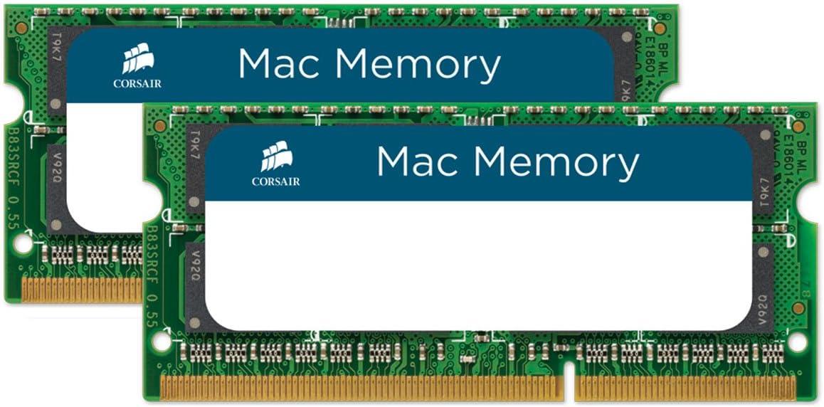 Corsair Mac Memory SODIMM 8GB (2x4GB) DDR3 1066MHz CL7 Memoria para Sistemas Mac, Calificada por Apple - Negro