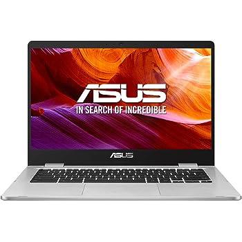"ASUS Chromebook Z1400CN-BV0306 - Ordenador portátil de 14"" HD (Intel Celeron N3350, 4GB RAM, 32GB EMMC, Intel HD Graphics 500, Chrome OS) Plata - Teclado QWERTY Español"
