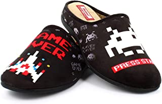 Zapatillas inspiradas en Space Invaders cómodas Andar por casa - Gamer Retro