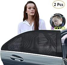 Astarye Pare-soleil de voiture b/éb/é Fen/êtres Auto Adh/ésif voiture soleil pare-soleil Protection UV Maximale Pour B/éb/és Enfants et Animaux Domestiques Noir 44x36cm 2 pi/èces