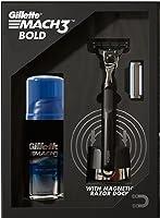 Gillette Mach3 Bold Gift Pack (Heavy, black, stylish Bold razor + 1 Cartridge+ Mach3 Gel+ Magnetic Razor Dock)