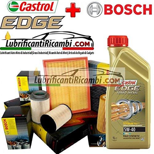Kit tagliando olio CASTROL EDGE 5W40 5LT 4 FILTRI BOSCH 1457429619, 0450906295, 1457433046, 1987432371)