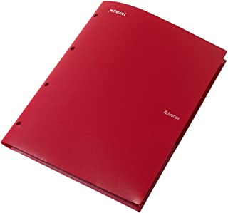 Rexel Advance Stay-Put Pocket & Prong Folder A4 Red (2 Pockets)