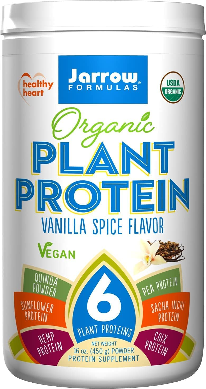 Jarrow Organic Plant Protein - Hemp Special sale item Quinoa Sunflower Free shipping Vegan