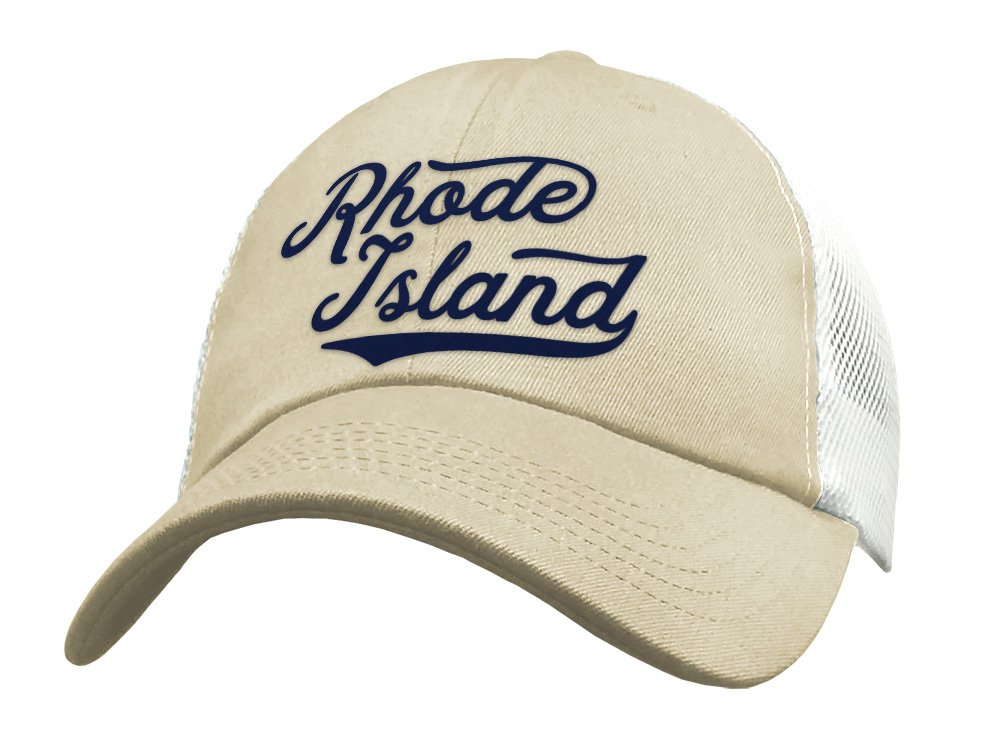 State of Rhode Island Trucker Limited time trial price Hat - Mesh Baseball low-pricing Cap Snapback L