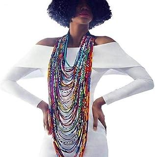 3840b2101a6 Colorful Handmade African Ankara Necklace Wax Print Dashiki Fabric Necklace  Shawl