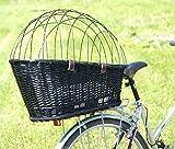 Hunde Katzen Fahrradkorb Weide Rattan Schutzgitter Gepäckträger hinten Gitter - 4