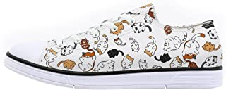 Shoes for Women 2019 Canvas Shoes Animal Printed Cat Sneakers Shoes for Ladies Low Top Shoes Cute Dog Print Shoes