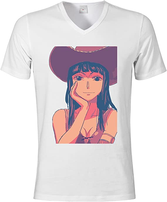 Nico Robin One Piece Anime Character Men s v – Camiseta de ...