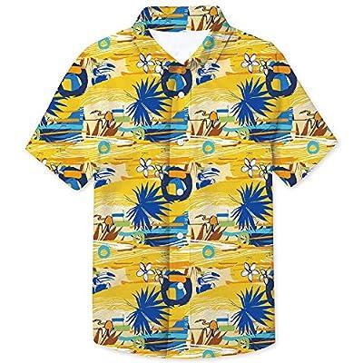 Little & Big Boys Button Down Shirts Hawaiian Aloha Short Sleeve Party Camp Holiday Casual Novelty Dress Shirt (Size 2-8T)