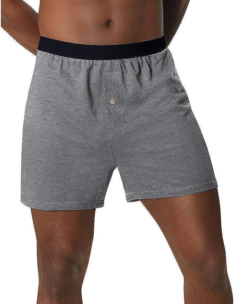 Hanes Men's Tagless ComfortSoft Knit Boxers ComfortSoft Waistband 5-Pack