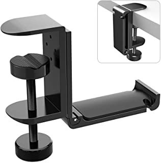 APPHOME Upgrade Foldable Headphone Stand Under Desk PC Gaming Headset Hanger Holder Hook Clamp with Built in Cable Clip Or...