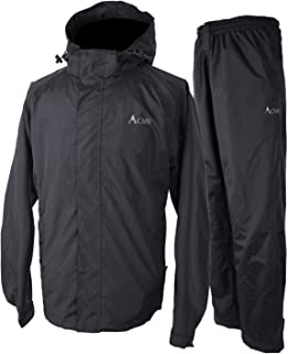 Acme Projects Rain Suit (Jacket + Pants), 100% Waterproof, Breathable, Taped Seam, 10000mm/3000gm, YKK Zipper
