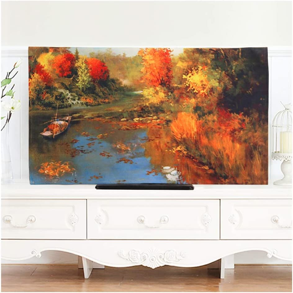 Bargain sale Super beauty product restock quality top HUJB Universal TV Cover Oil Painting European Style