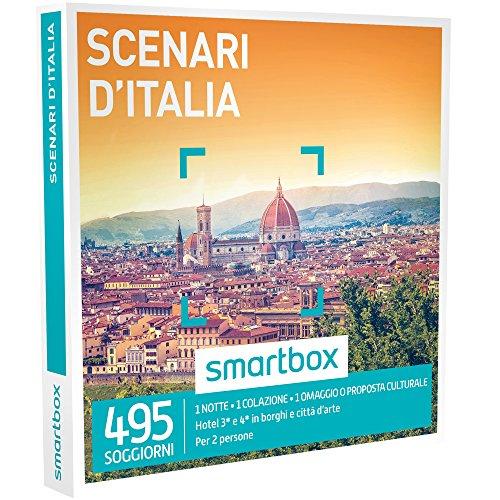 Smartbox - Scenari D'Italia - 495 Soggiorni Con Proposta Culturale In Hotel 3* e 4* In Borghi e Città D'Arte, Cofanetto Regalo Gastronomici