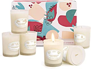 Anjou Scented Candles Gift Set, 6 Pack Natural Soy Wax Aromatherapy, Smoke Free Strong Fragrance Relaxing Long Lasting Candles for Christmas Bath Stress Relief Home Decor