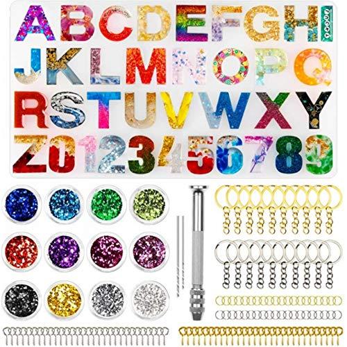 IWILCS - Kit di stampi in resina epossidica per lettere dell