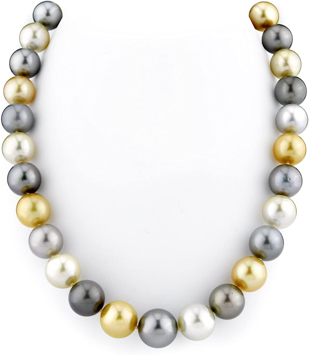 THE PEARL SOURCE 14K Gold 11-14mm Ranking TOP1 Round Tahit Special price for a limited time Genuine Multicolor