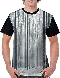 BlountDecor Unisex T-Shirt,Mystical Lake Scenic Fashion Personality Customization
