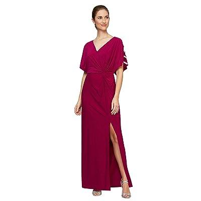 Alex Evenings Long Knot Front Dress