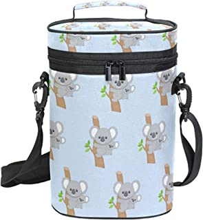 Cute Australia Koala Bear Wine Tote Bag with Shoulder Strap Portable Wine Cooler Bag for Travel Picnic