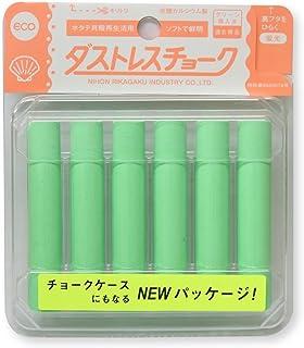 日本理化学 ダストレス蛍光チョーク 緑 6本 DCK-6-G