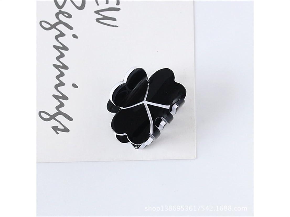 七面鳥残る出費Osize 美しいスタイル キャンディー色のトランペットプリンセスヘアピンミニ小型グリップクリップヘアアクセサリー(ブラック)