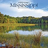 Mississippi Wild & Scenic 2021 12 x 12 Inch Monthly Square Wall Calendar, USA United States of America Southeast State Nature