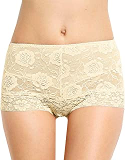Eve's Temptation Lily Women's High Waist Lace Panties Underwear Seamless Slimming Full Coverage Brief