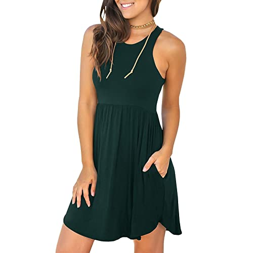 3017bbe3fe9 Unbranded Women s Sleeveless Loose Plain Dresses Casual Short Dress with  Pockets