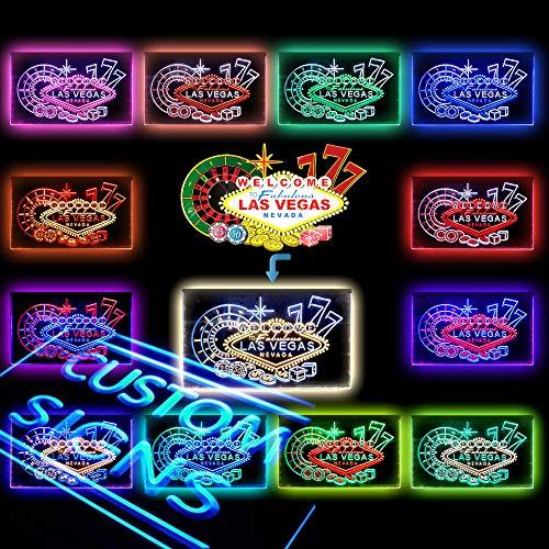 ADVPRO [Custom. Dual-Color] LED Neon Sign, Your Own Design, 13 Dual-Color, 3 Sizes, Landscape/Portrait (Upload Design Logo/Picture or Text 9 Fonts)