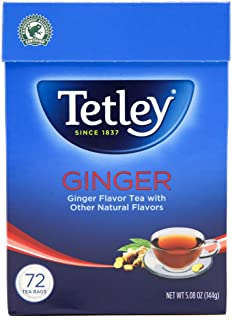 Tetley Tea, Ginger, 72-Count Tea Bags (Pack of 3)