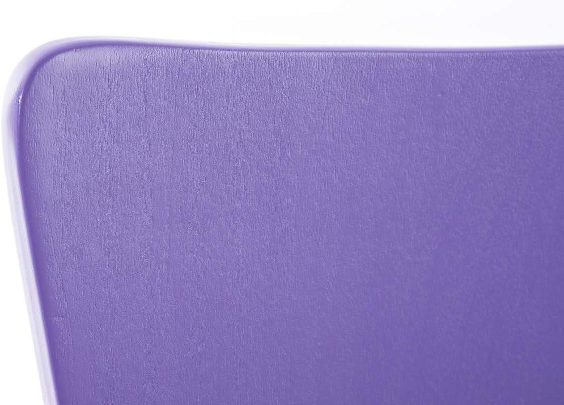 CLP Lot de 4 Chaises Empilables Aaron I Chaises Visiteur en Bois Dossier Siège Ergonomique et Confortable I Hauteur Assise 45 cm I Couleur: Violet Violet