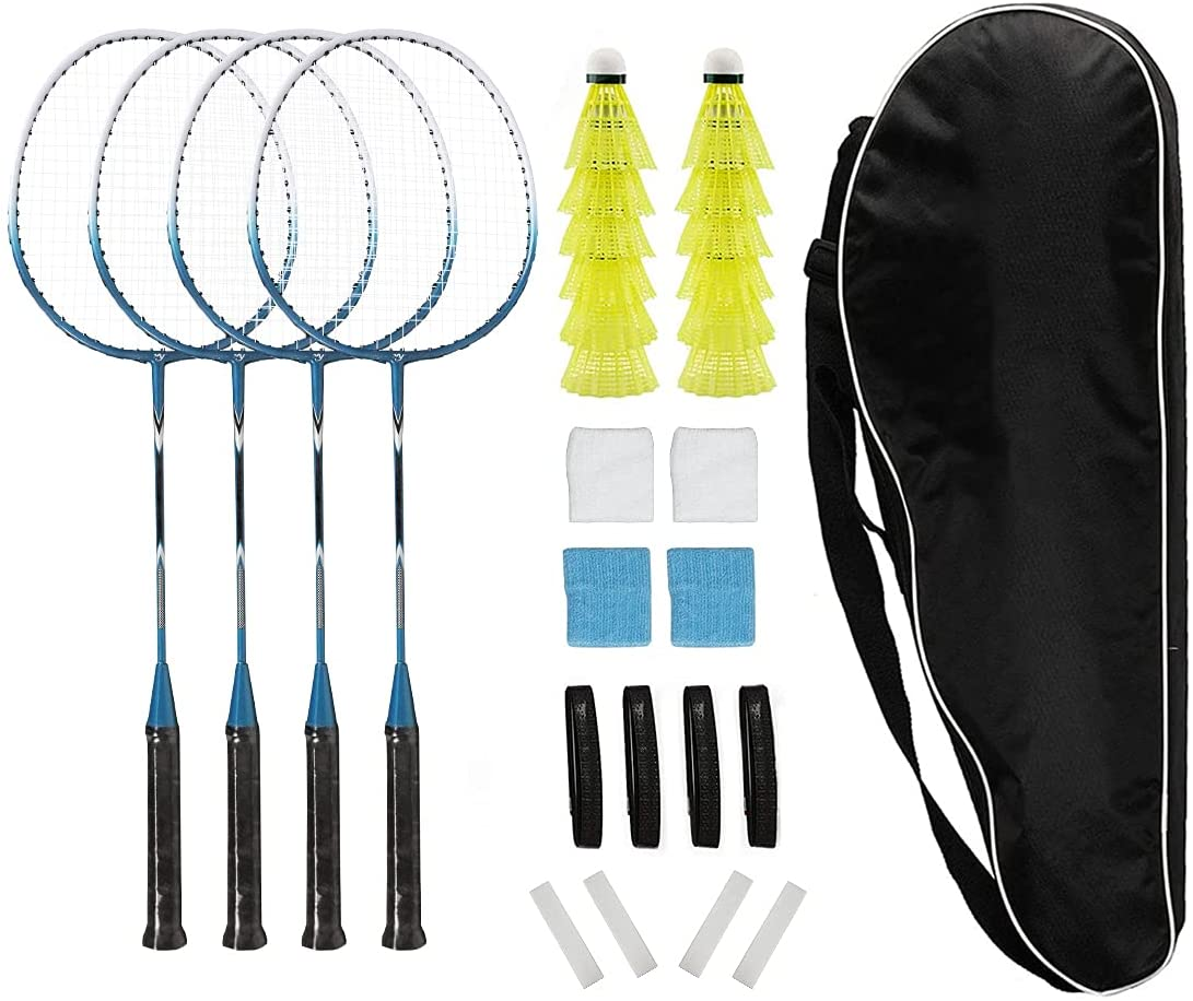Badminton Rackets Large discharge sale Set of 4 for Kids Famil Sports Backyard Adults National uniform free shipping