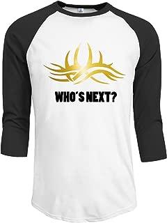 Men's Who's Next Black 3/4 sleeves Tee Black hot.fashion