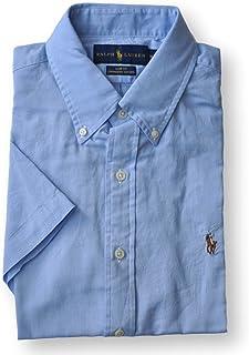 79ced5bd Ralph Lauren Men Slim Fit Chambray Oxford Button-Down Shirt (XXL, Light Blue
