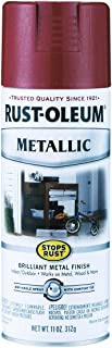 Rustoleum 7256-830 11 Oz Apple Red Stops Rust Metallic Spray Paint