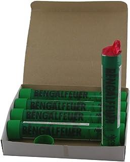 5 Bengalfackeln mit jeweils 40 Sekunden Brenndauer in verschiedenen Farben Grün