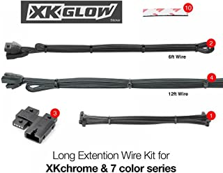 Long Extension Wire Kit for XKchrome & 7 Color Series for Motorcycle ATV Snowmobile