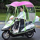WYB Capota para Motocicleta eléctrica, Paraguas para Scooter Completamente Cerrado, Parasol y Cubierta para la Lluvia extraíbles y Cortinas Laterales extraíbles,C