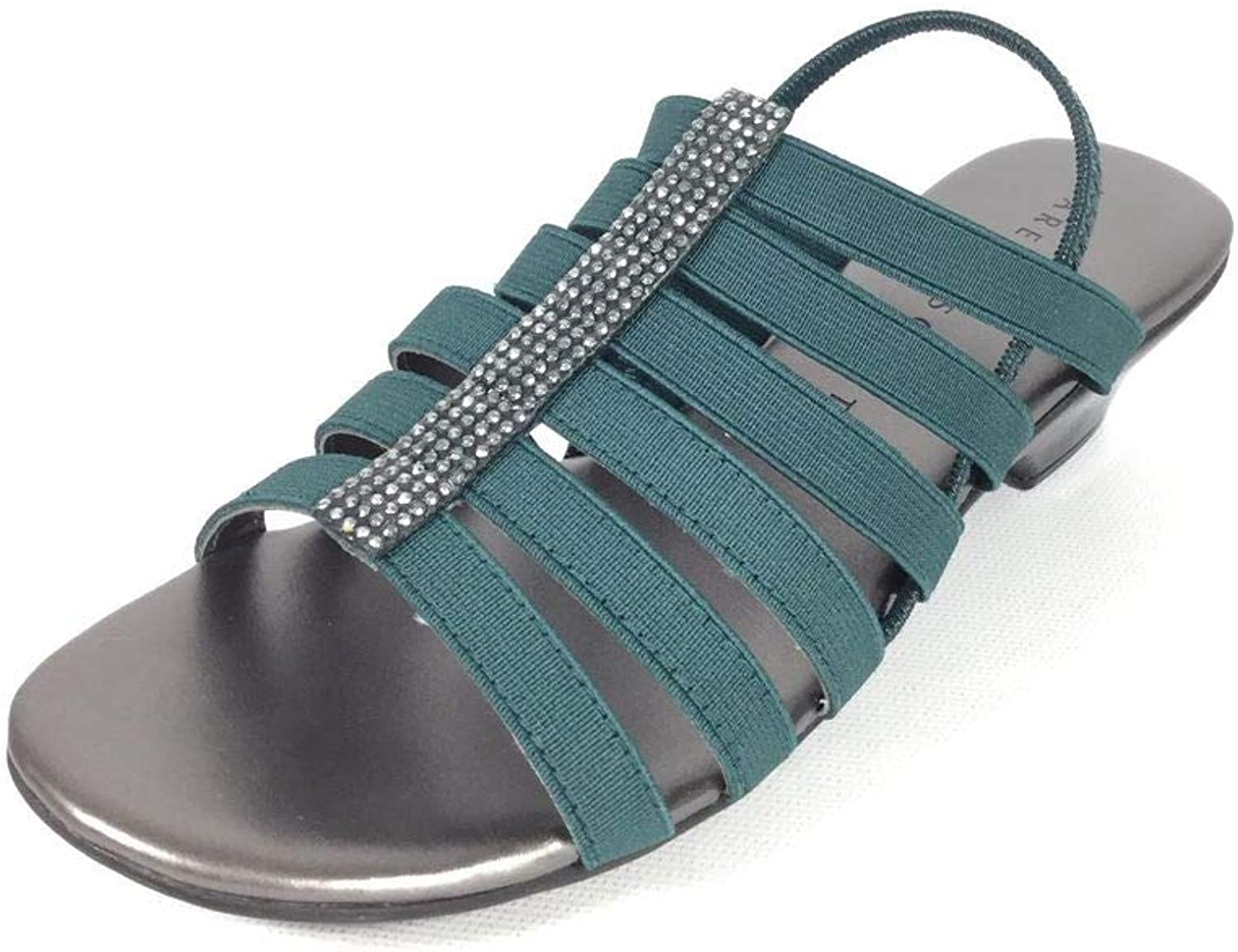 Karen Scott Womens Esteveetel Fabric Open Toe Casual Strappy Sandals