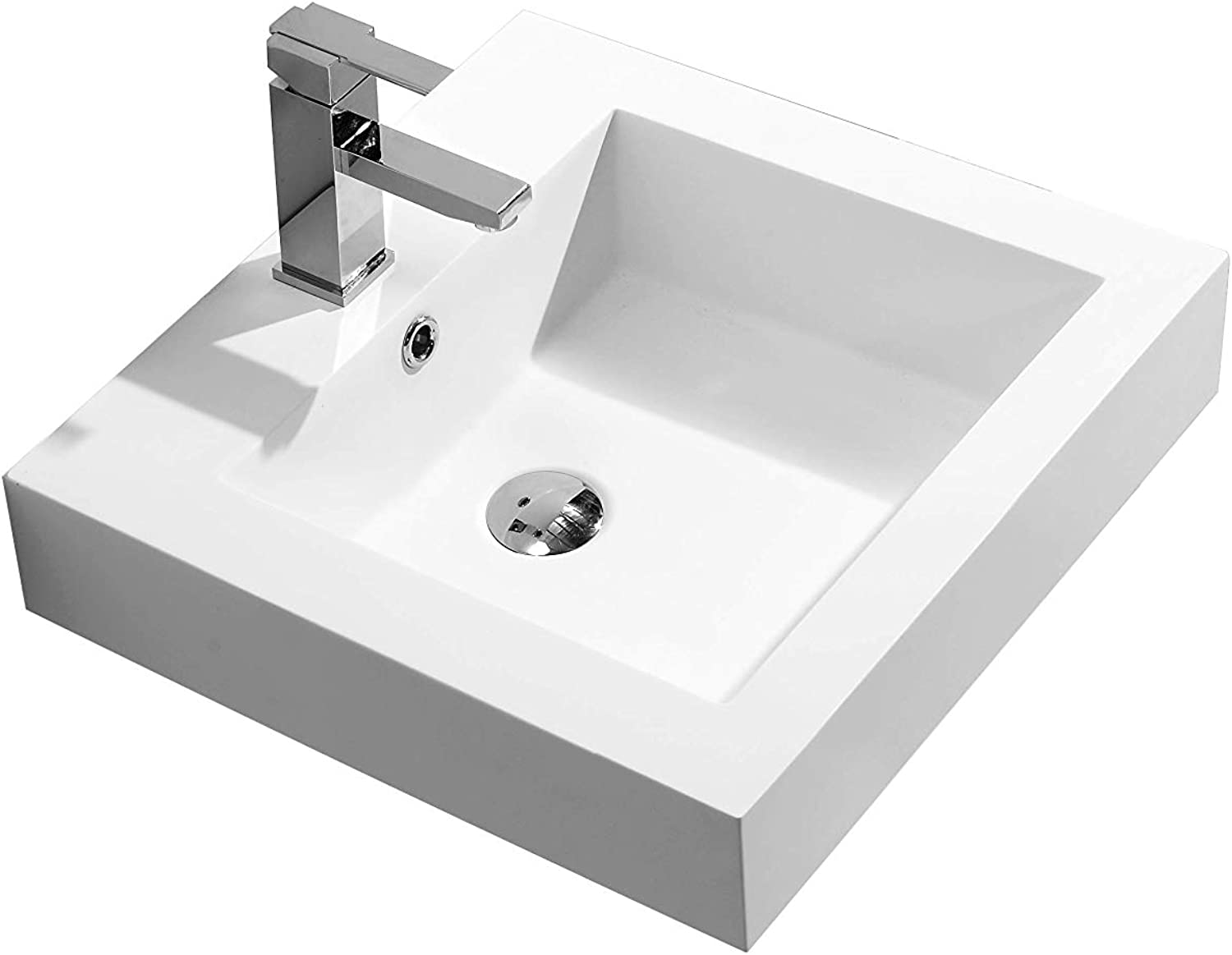KKR 1011 Wall-Mounted Basin Cast Mineral Stone with Solid Surface Matt