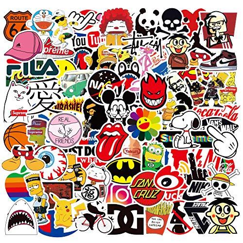 PRETTYSUNSHINE Aufkleber Set 100 Stücke, Wasserdicht Vinyl Stickers Graffiti Style Decals für Laptop Koffer Helm Motorrad Skateboard Auto Fahrrad Computer Vintage Aesthetic Sticker