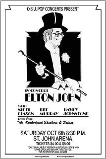 Raw Sugar Art Studio Elton John 1973 Ohio State Concert Poster